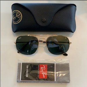 Ray Ban General RB3561 Gold Metal w/ Green Lenses
